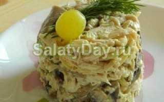 Салат загадка для гостей с яичными блинчиками