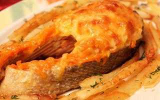 Кета кусочками в духовке рецепт с картошкой