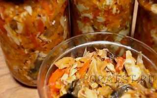 Заготовка солянка с грибами и томатной пастой на зиму