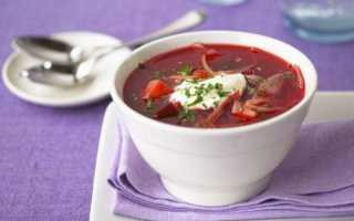 Рецепт борщ на курином бульоне. калорийность, химический состав и пищевая ценность