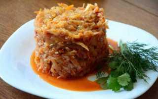 Рис с капустой и фаршем — 54 домашних вкусных рецепта приготовления