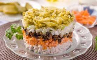 Быстро и просто: салат обжорка с колбасой