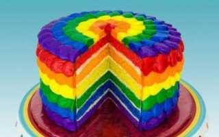 Торт «радуга», или rainbow cake. рецепты, варианты окрашивания