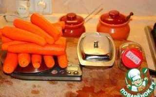 Рецепт приготовления морковного пюре для грудничка