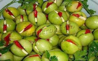 Рецепты вкусных зеленых маринованных помидор
