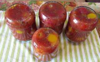 Помидоры в томатном соке на зиму
