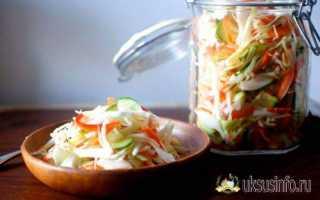 Рецепт салат из капусты с морковью, как в столовой. калорийность, химический состав и пищевая ценность