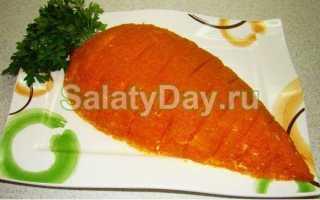 Салат из моркови с чесноком