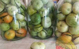 Как посолить зеленые помидоры в кастрюле