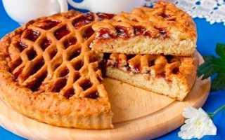Красивый и вкусный открытый пирог с повидлом