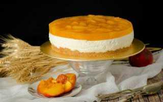 Торт «йогуртовый» с абрикосами без выпекания