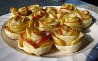 Яблоки запеченные в тесте в духовке