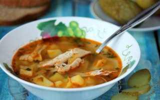 Суп рассольник классический с рисом