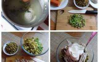Салат оливье с говядиной