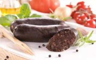 Кровяная колбаса, рецепты приготовления в домашних условиях